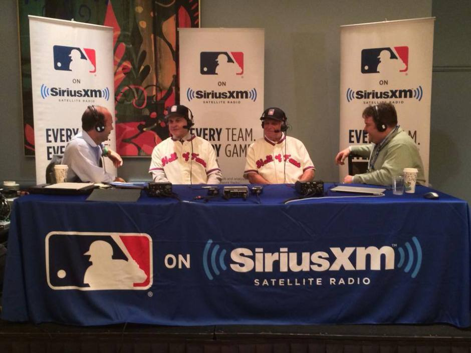 Bobby Cox and Tony LaRussa on set with Mike Ferrin and Jim Duquette on MLB Network Radio