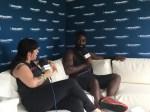 Kele Okereke of Bloc Party with Jenny Eliscu at Lollapalooza 2016