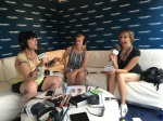 Jenny Eliscu, Julia Cunningham and Madison at Lollapalooza 2016