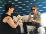 Matt Schultz of Cage the Elephant with Jenny Eliscu at Lollapalooza 2016