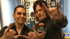Host Jose Mangin with Norman Reedus