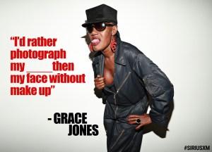 Grace Jones at the SiriusXM Studios
