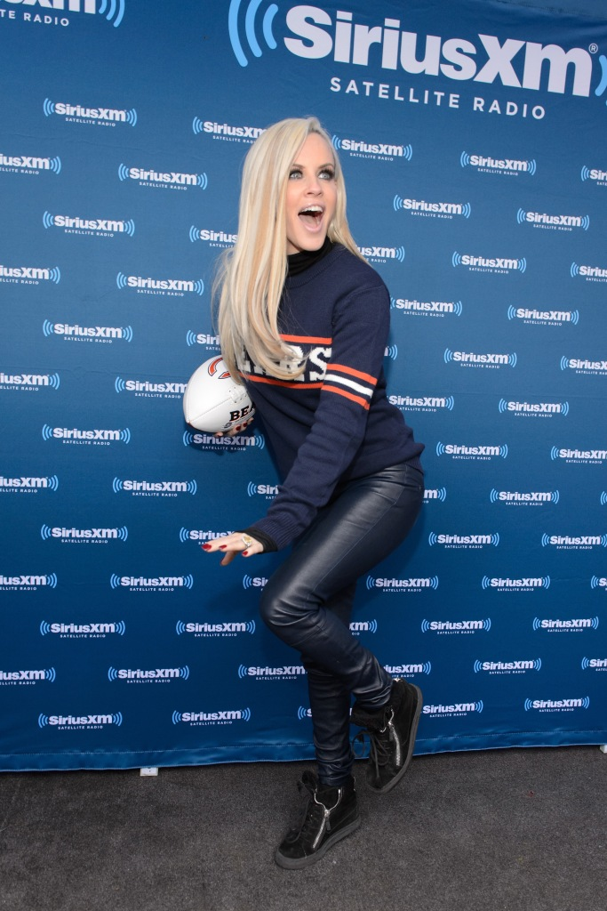 """""""CHICAGO, IL - APRIL 28: Jenny McCarthy attends during her SiriusXM show from Grant Park in Chicago, IL before the NFL Draft on April 28, 2016 in Chicago, Illinois. (Photo by Daniel Boczarski/Getty Images for SiriusXM)"""""""