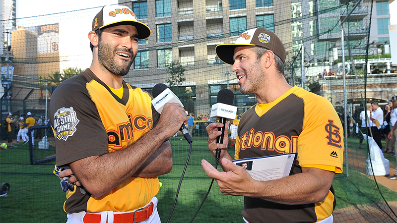 SAN DIEGO, CA - JULY 10: Andy Cohen interviews Tyler Hoechlin for his SiriusXM Show from the All-Star Legends & Celebrity Softball Game at PETCO Park on July 10, 2016 in San Diego, California. (Photo by Jerod Harris/Getty Images for SiriusXM)