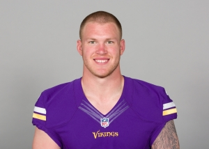 This is a 2015 photo of Kyle Rudolph of the Minnesota Vikings NFL football team. This image reflects the Minnesota Vikings active roster as of Tuesday, June 16, 2015 when this image was taken. (AP Photo)