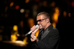 FILE - British singer George Michael performs at a concert to raise money for AIDS charity Sidaction, during the Symphonica tour at Palais Garnier Opera house in Paris, France, Sunday, Sept. 9, 2012. (AP Photo/Francois Mori)