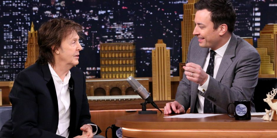 Tonight Show host Jimmy Fallon plays his favorite Beatles
