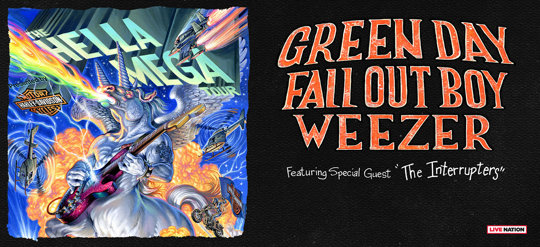 Dallas Harley Davidson >> SiriusXM Presale: Hella Mega Tour featuring Green Day, Fall Out Boy, and Weezer Presented by ...
