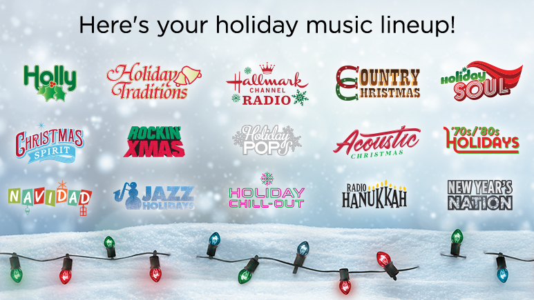 Dish Network Christmas Music 2020 Holiday music channels on SiriusXM with Hallmark Channel Radio