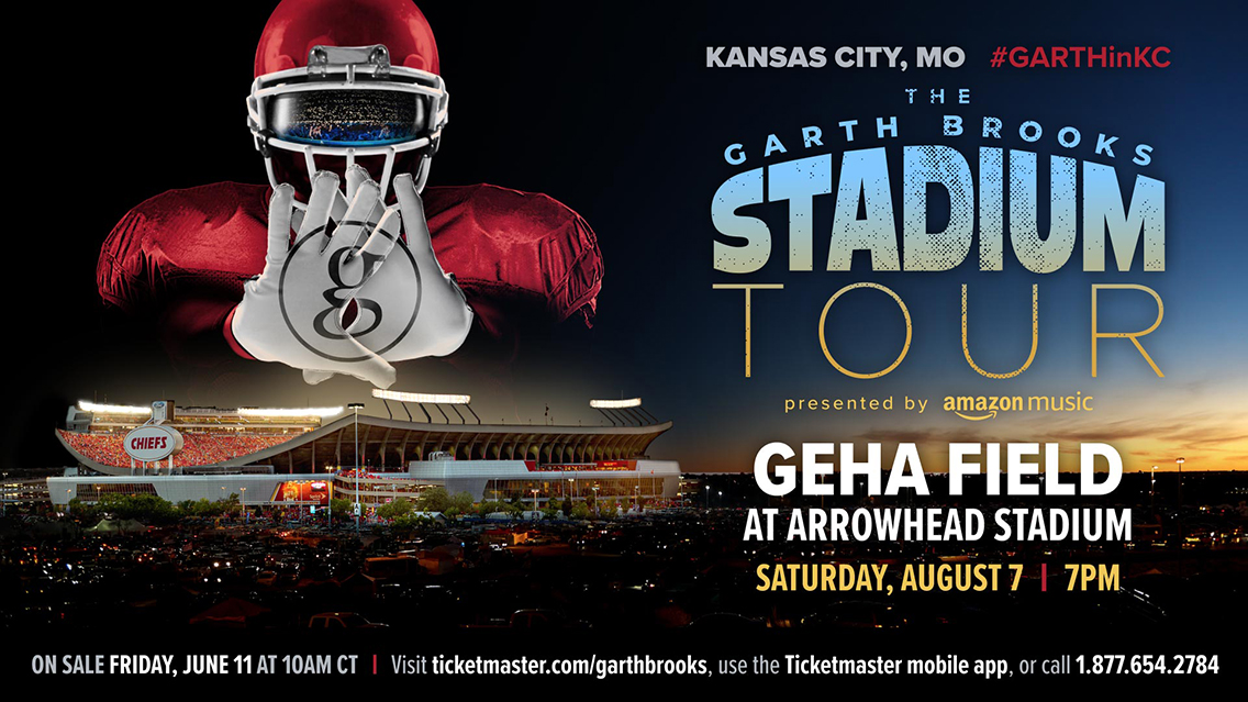 The Garth Brooks Stadium Tour & The Garth Channel are coming to Kansas City