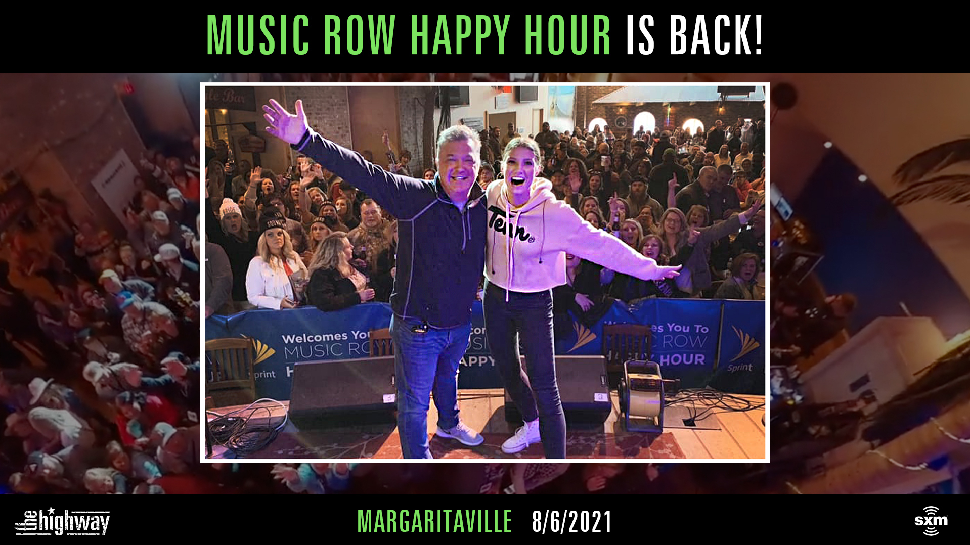 Attend the 'Music Row Happy Hour' in person as it returns to Jimmy Buffett's Margaritaville